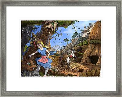 Framed Print featuring the painting Open Sesame by Reynold Jay