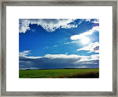 Open Skies Framed Print by Quincy Casey