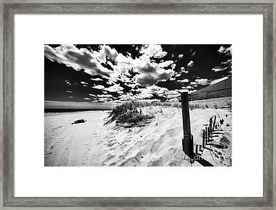 Open Sky In Asbury Framed Print by John Rizzuto
