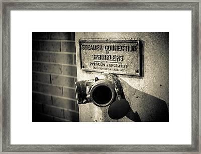 Open Sprinkler Framed Print by Melinda Ledsome