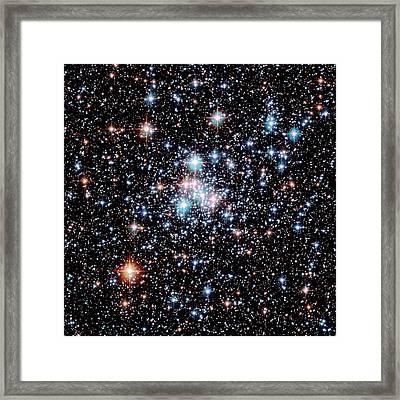 Open Star Cluster Ngc 290 Framed Print by E. Olszewskiu. Arizonanasaesastsci