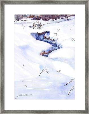 Open Stream In Winter Framed Print