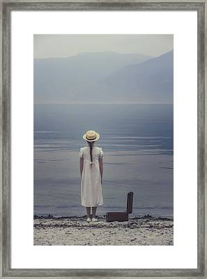 Open Suitcase Framed Print by Joana Kruse