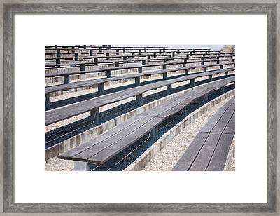 Open Theater Wood Banks Framed Print