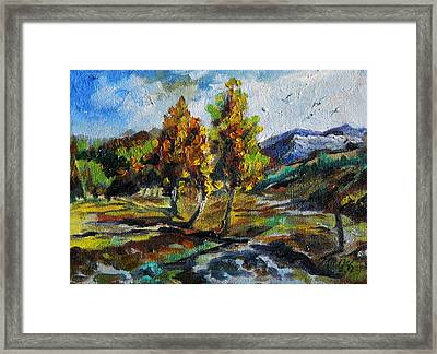 Open Valley Framed Print by Min Wang