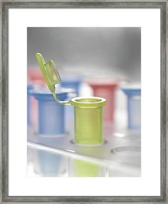 Open Vial Framed Print by Tek Image