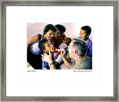 Open Wide Framed Print