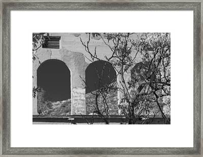 Open Windows Jerome Black And White Framed Print
