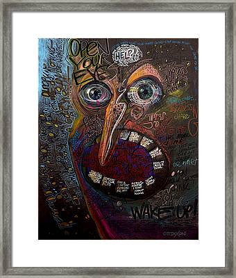 Open Your Eyes Framed Print
