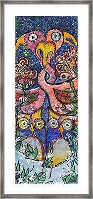 Open Your Heart Framed Print by Leela Payne