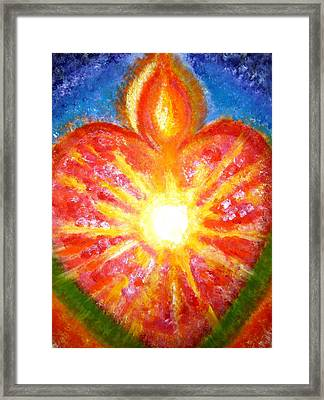 Open Your Heart To Let God Out Framed Print
