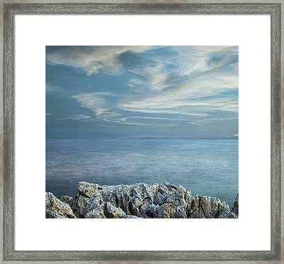 Opened Distance Framed Print by Akos Kozari