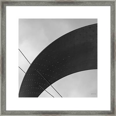 Framed Print featuring the photograph Opening Arch - Abstract by Steven Milner