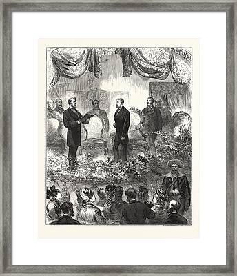 Opening Ceremony Of The Westminster Aquarium And Winter Framed Print by English School