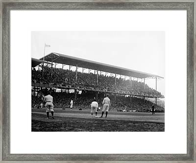Opening Day At Griffith Stadium - Washington Dc 1922 Framed Print by Mountain Dreams