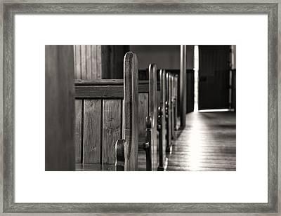 Opening Door Bw Framed Print