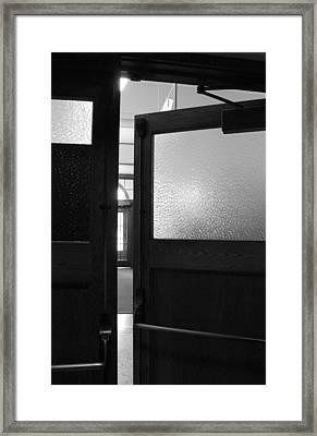 Opening Doors Bw Framed Print