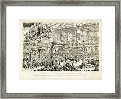 Opening Of The Great Exhibition Of 1851 Framed Print by Library Of Congress
