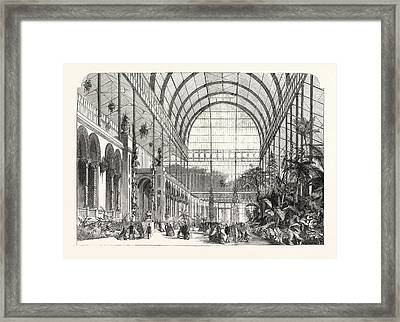 Opening Of The Horticultural Societys Gardens The Winter Framed Print by English School
