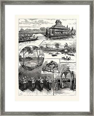 Opening Of The Kokaing Water Works Rangoon 1 Framed Print by English School