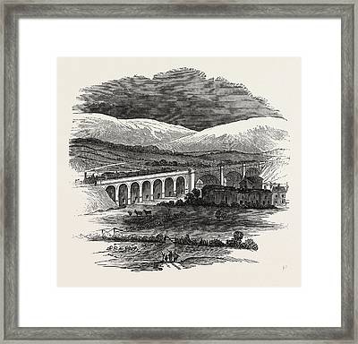 Opening Of The Lancaster And Carlisle Railway Bridge Framed Print