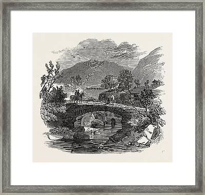 Opening Of The Lancaster And Carlisle Railway Packhorse Framed Print