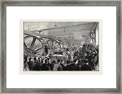 Opening Of The Liverpool Docks Overhead Electric Railway Framed Print by English School