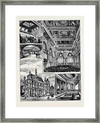 Opening Of The New Buildings For The City Of London School Framed Print by English School