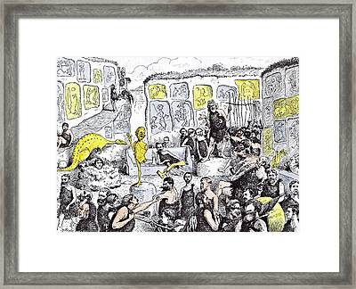 Opening Of The Primeval Royal Academy Framed Print