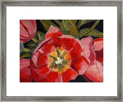 Framed Print featuring the painting Opening by Pattie Wall