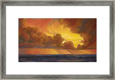 Opening Sky Framed Print by Lucie Bilodeau