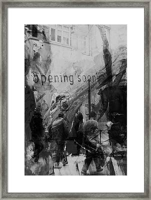 Framed Print featuring the photograph Opening Soon by Jim Vance