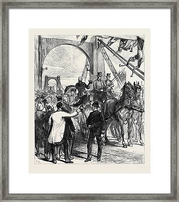 Opening Thames Bridges Free Of Toll The Metropolitan Board Framed Print