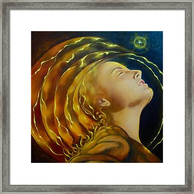 Opening To Light Framed Print by Christina Gage