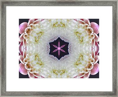 Opening To Love Mandala Framed Print