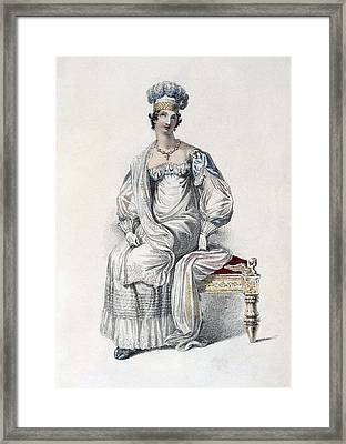 Opera Dress, Fashion Plate Framed Print by English School