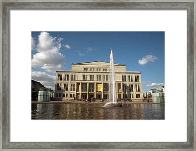 Opera House And Fountain On Augustus Framed Print