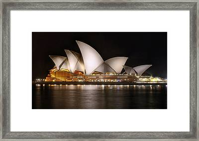 Opera House Framed Print by Damian Morphou