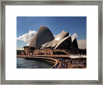 Opera House Famous Framed Print by John Swartz