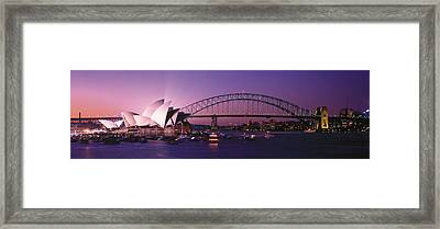Opera House Harbour Bridge Sydney Framed Print by Panoramic Images