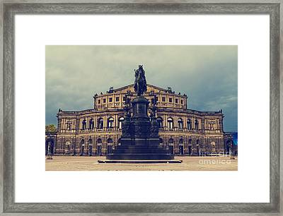 Opera House In Dresden Framed Print