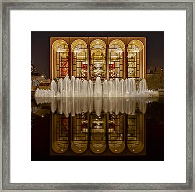 Opera House Reflections Framed Print by Susan Candelario