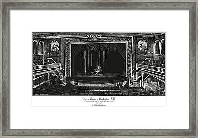 Opera House - Rochester Nh Framed Print by Robert Goudreau