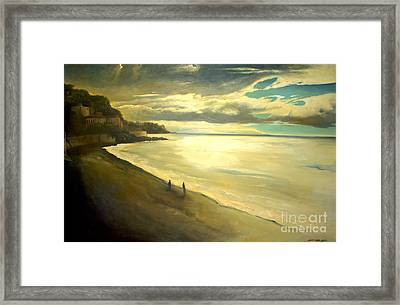 Opera Plage - In Nice Framed Print by Lin Petershagen
