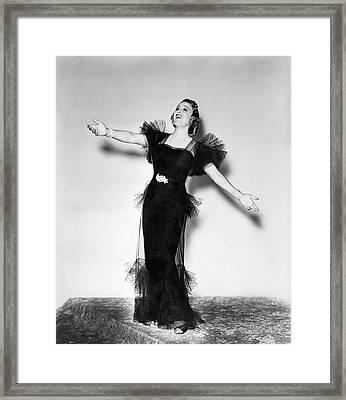 Opera Star Grace Moore Sings Framed Print by Underwood Archives