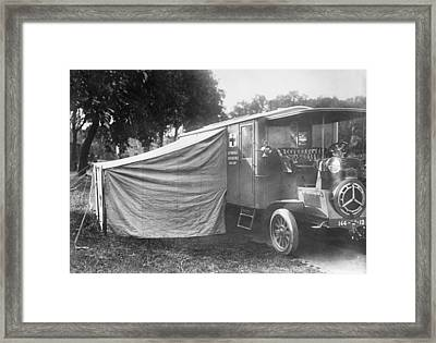 Operating Ambulance Framed Print by Library Of Congress