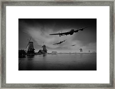 Operation Chastise First Wave Black And White Version Framed Print