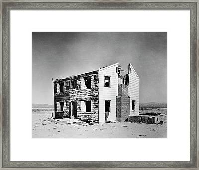 Operation Cue Atom Bomb Test Framed Print by Us National Archives