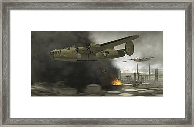 Operation Tidal Wave Side View Framed Print by Robert Perry