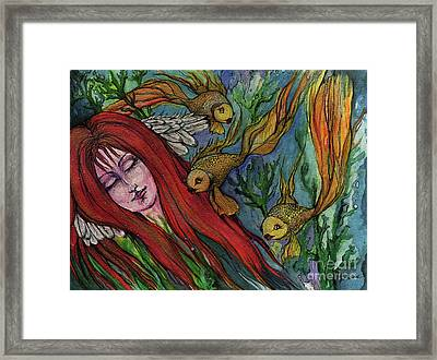 Ophelia Framed Print by Angel  Tarantella